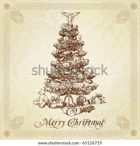 Vintage Christmas Tree Stock Images, Royalty-Free Images & Vectors ...