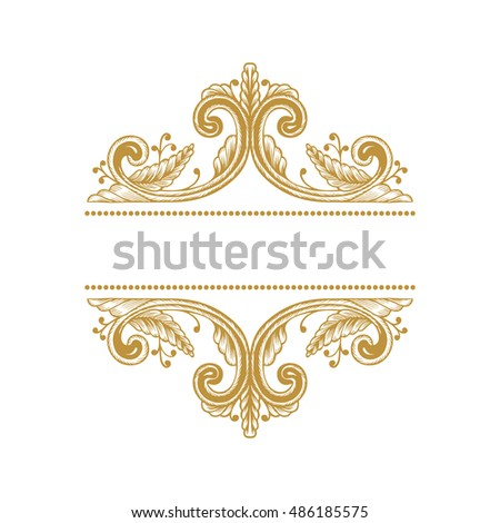 Hand Drawn Vintage Damask Ornamental Elements Stock Vector (2018 ...