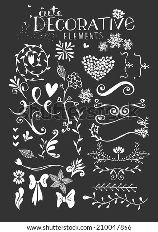 Hand Drawn Vintage Floral Vector Illustration - stock vector