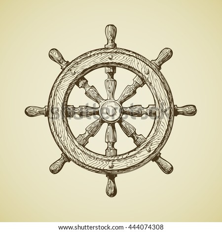 Old Fashioned Boat Steering Wheel