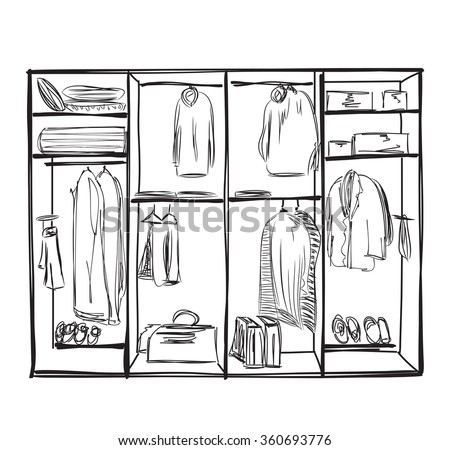 Wardrobe clipart  Wardrobe Sketch Stock Images, Royalty-Free Images & Vectors ...