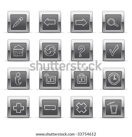 Hand drawn web icons - stock vector