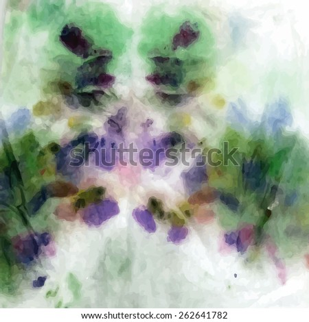 Hand-drawn wet,gradient, watercolor,butterfly acrylic background. Colorful season template - stock vector