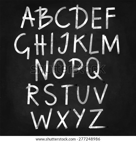 Alphabet puzzles stock vector 326425832 shutterstock for Blackboard with white removable letters
