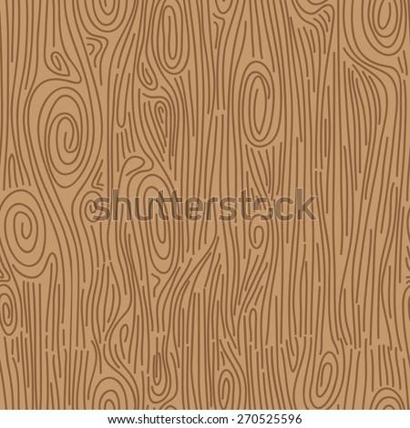 Hand drawn wood grain. Seamless vector pattern. - stock vector