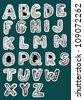 Hand Drawn Woodcut Trendy Font - stock vector