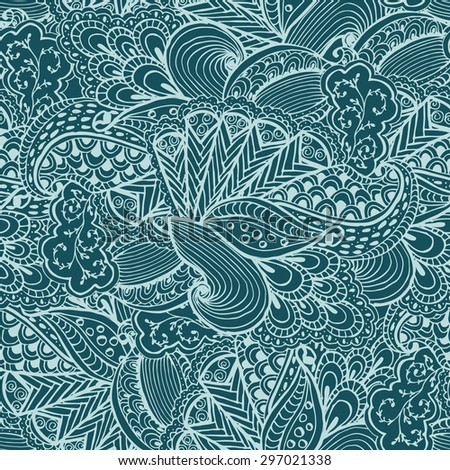 Hand Drawn Zentangle Seamless Pattern Use Stock Vector 2018