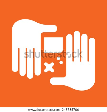 hand Game Console - stock vector