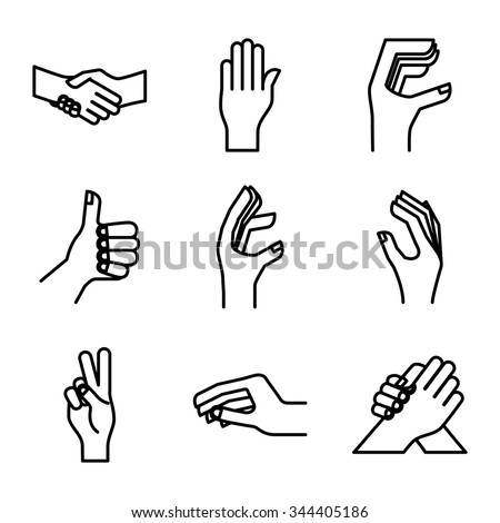 hand gestures design, vector illustration eps10 graphic