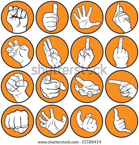 Hand gesturing - stock vector
