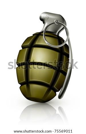 Hand grenade, 10eps - stock vector