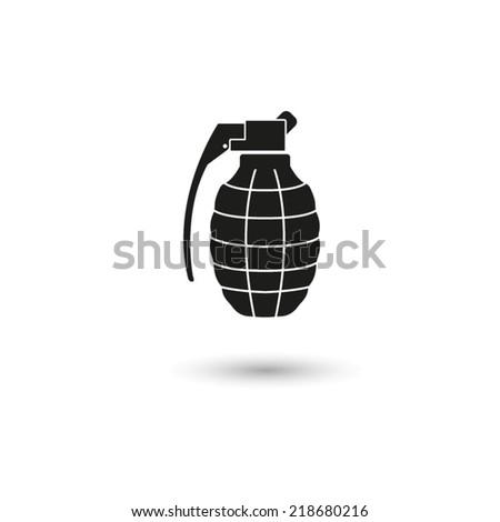 hand grenade - vector icon - stock vector