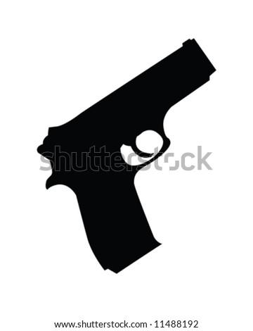 Hand Gun Vector Illustration - stock vector
