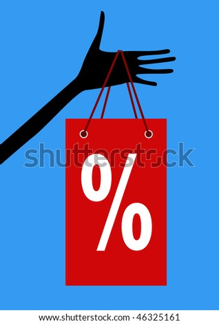 hand hold the shopping bag - stock vector