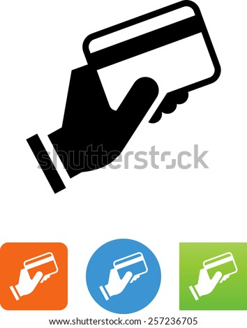 Hand Holding Credit Card Icon Stock Vector Royalty Free 257236705