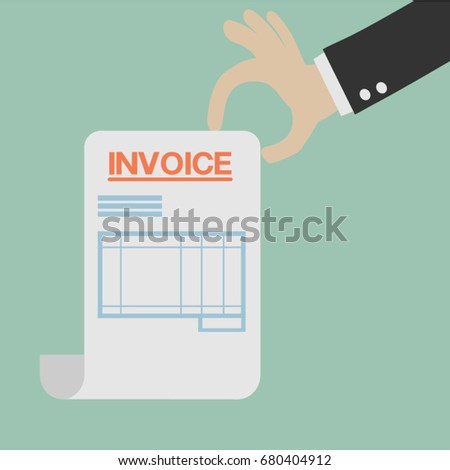 Gmail Email Receipt Invoice Bill Stock Images Royaltyfree Images  Vectors  Profama Invoice Pdf with Sample Shipping Invoice Hand Holding A Letter With Invoice Headline Eps Vector Businessman Hand  Holds Receipt Bill How To Make Fake Receipts Excel