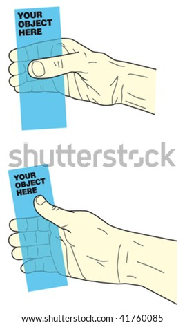 hand holding object 1 - stock vector