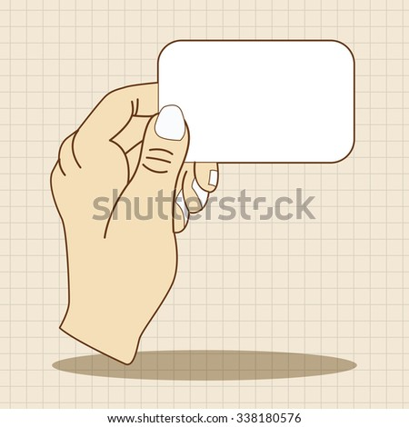 hand holding paper theme elements vector,eps