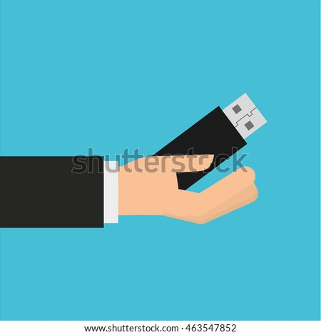 hand holding smartphone device icon, vector illustration