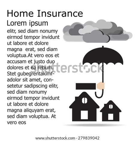 hand holding umbrella over the house .Insurance design concept. Vector EPS 10. - stock vector