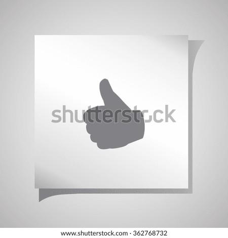 Hand icon, Flat icon of ok vector illustration. - stock vector
