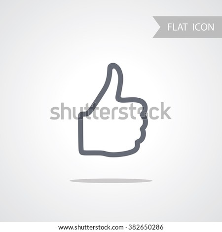 Hand Icon isolated on white Background.