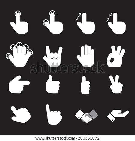 hand icon set.vector