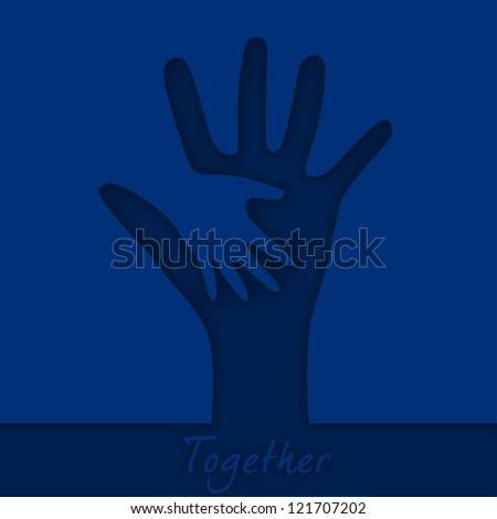 Hand in hand - stock vector