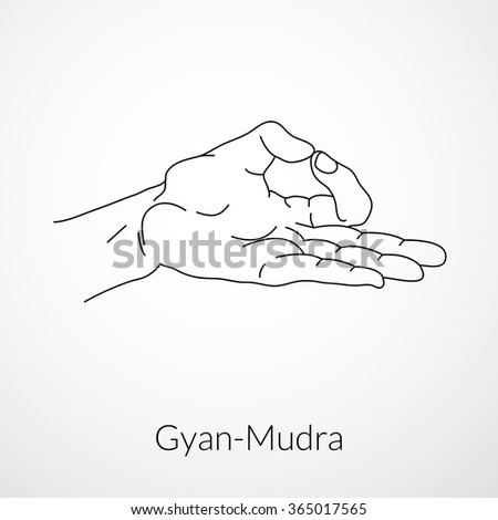 Hand In Yoga Mudra Dhyana Or Gyan Jnana