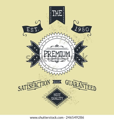 hand lettered catchword vintage tag premium