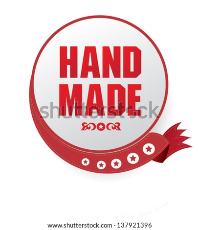 Hand made sign,vector