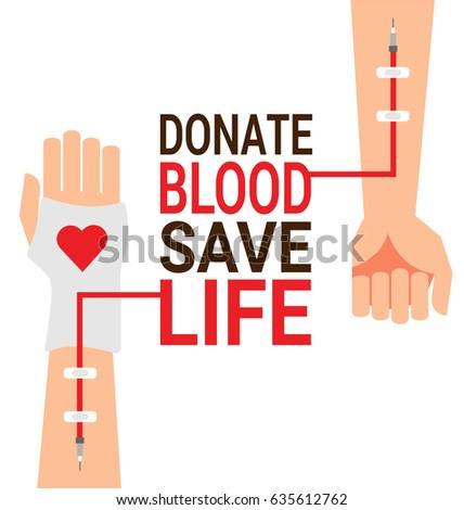 Hand blood donor patient hand world stock vector 635612762 hand of blood donor with patient hand for world blood donor day poster altavistaventures Choice Image