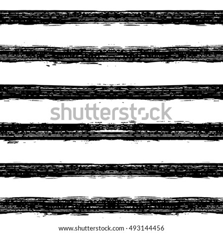 Hand painted brush strokes seamless pattern. Striped background. Vector illustration