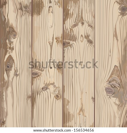 Hand-painted texture of light wood - stock vector