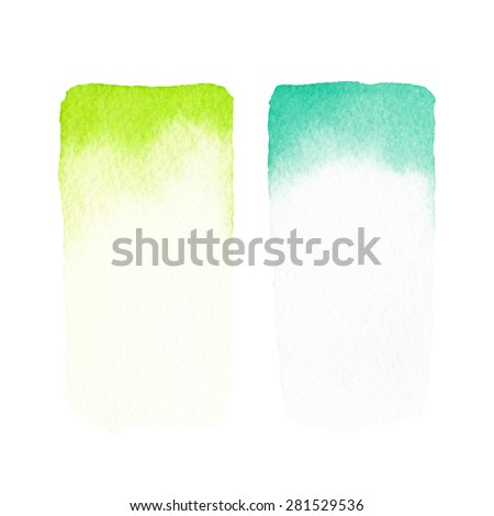 Hand painted watercolor backgrounds. Watercolor washes. - stock vector