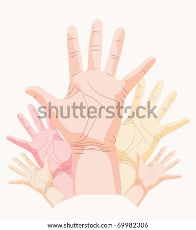 hand, palm vector - stock vector