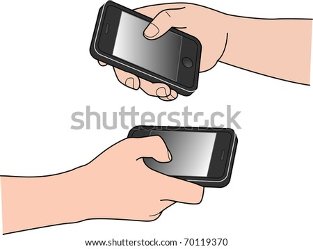 HAND PHONE - stock vector
