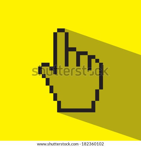 hand point finger vector icon