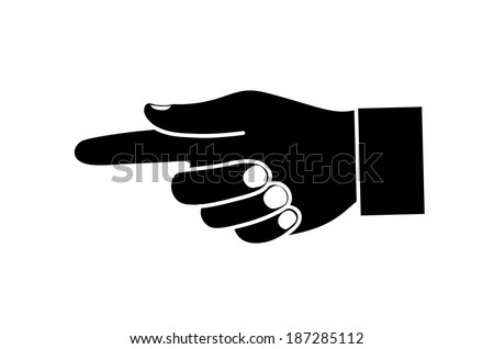 hand pointing direction - stock vector