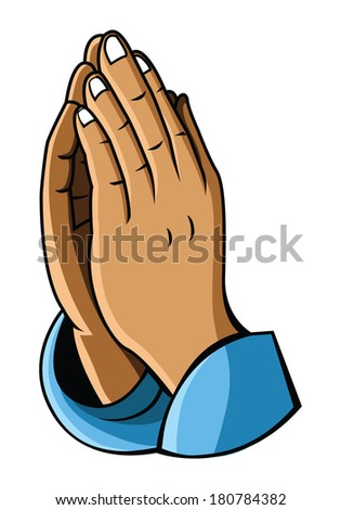 hand prayer - stock vector