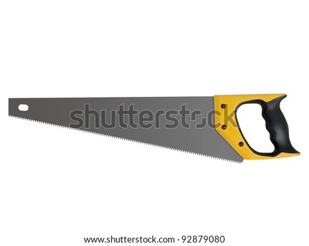 hand saw isolated on a white background, vector
