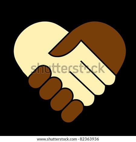 Hand shake - stock vector