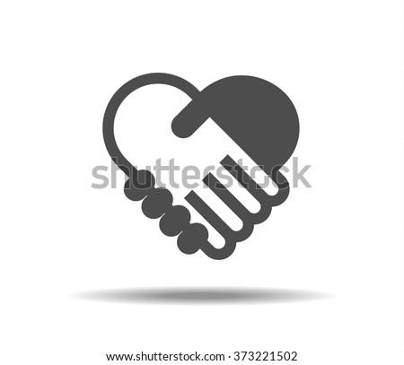 Hand shake symbol - stock vector