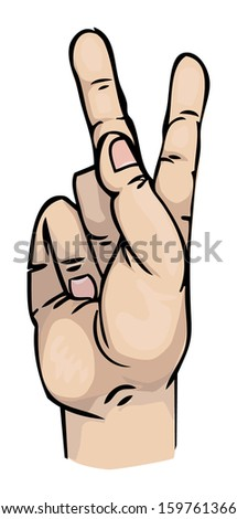Hand sign, vector illustration
