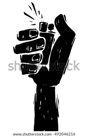 Hand sign with lighter, grunge template for your slogan, text or announcement. Rock and roll background. Reggae poster.