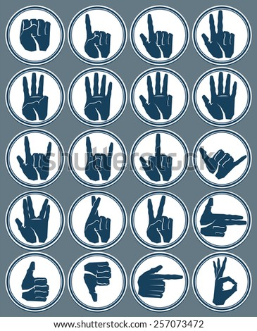 hand signs - stock vector