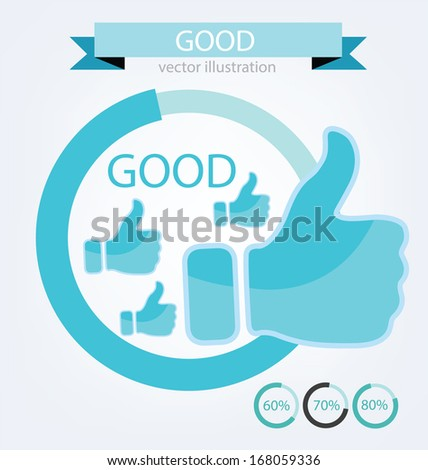 Hand signs vector. Good concept.