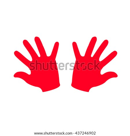 hand silhouette, vector illustration