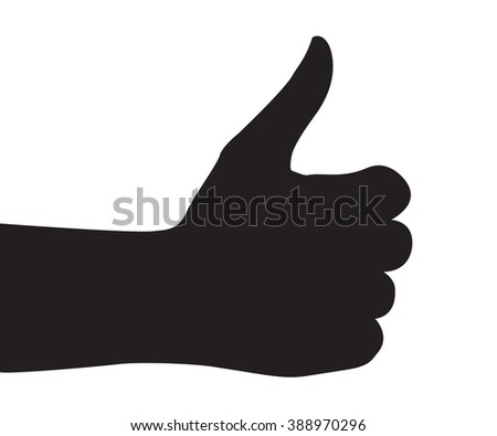 Hand Silhouettes on the white background
