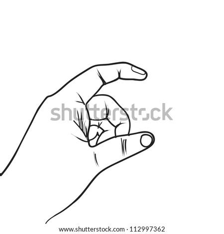 hand sketch drawing vector - stock vector